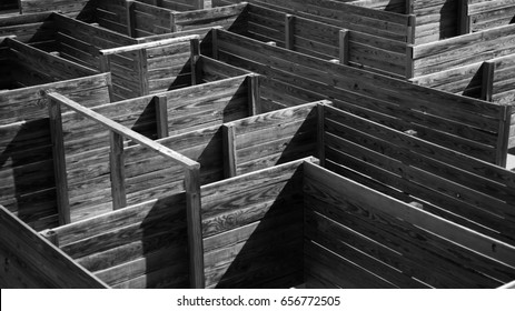 Confusing Life-sized Wooden Maze