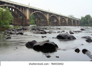 The Congaree River winds through Columbia, SC. where the Saluda and Broad Rivers merge downtown. It is a popular natural resource for fishing, canoeing, kayaking, and tubing.