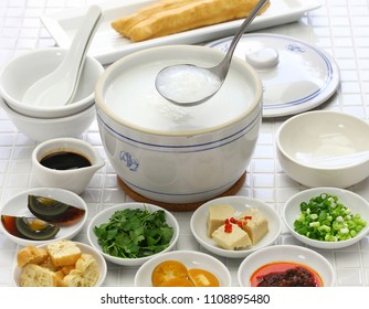 congee, chinese rice porridge, chinese traditional healthy breakfast