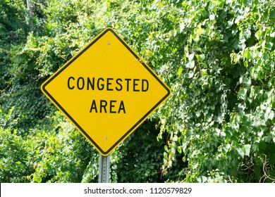 Congested Area Street Sign