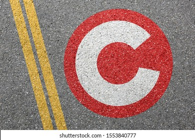 Congestion charge London city toll road street town pay paying sign zone concept