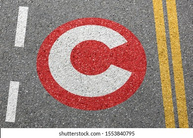Congestion charge London city toll road on a street town pay paying clean air sign zone concept