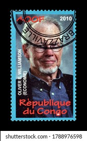 CONGO - CIRCA 2010 : Cancelled postage stamp printed by Congo, that shows Oliver Williamson, circa 2010.