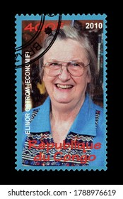CONGO - CIRCA 2010 : Cancelled postage stamp printed by Congo, that shows Elinor Ostrom, circa 2010.