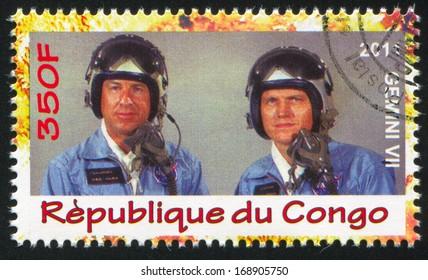 CONGO - CIRCA 2011: stamp printed by Congo, shows astronaut, circa 2011
