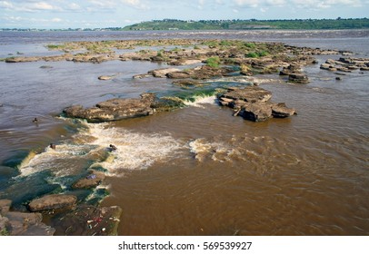 Congo River rapids from the Brazzaville side