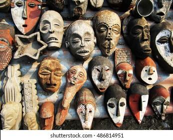 Congolese wooden masks