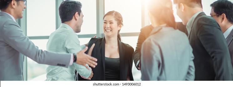 Congratulation, Business Team Meeting Office, Event Management Seminar and Development. Group Business Team Meeting Office Workplace.