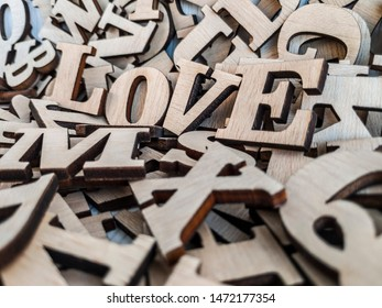 congratulation love on natural wood letters