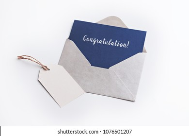 Congratulations Concepts - envelope and post card with blank tag