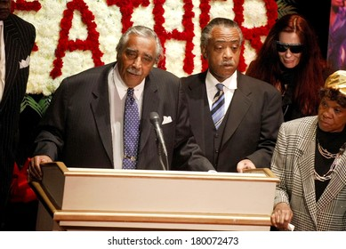 Congressman Charles B Rangel, Reverend Al Sharpton, Tomi Rae Hynie inside for Godfather of Soul James Brown Harlem Memorial Viewing, Apollo Theater, New York, December 28, 2006