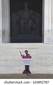Congresswoman Nancy Pelosi the Majority and Minority House Speaker speaks at the 50th Anniversary of the march on Washington D.C. and Martin Luther King's Speech, August 24, 2013, Lincoln Memorial