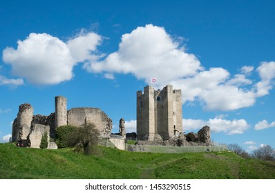 Conisbrough Castle, Conisbrough, South Yorkshire, UK 17th April 2016 The medieval castle which stands between Rotherham and Doncaster is now in the care of English Heritage and has been restored