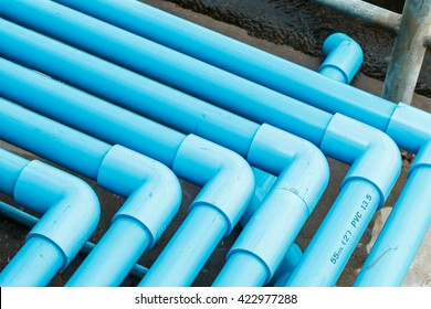 Connect with blue PVC pipes for drinking water.