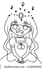 Connect the dots to draw the crown for the princess