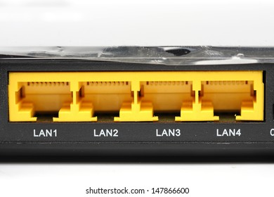 Connect the ethernet port on the back of the router.