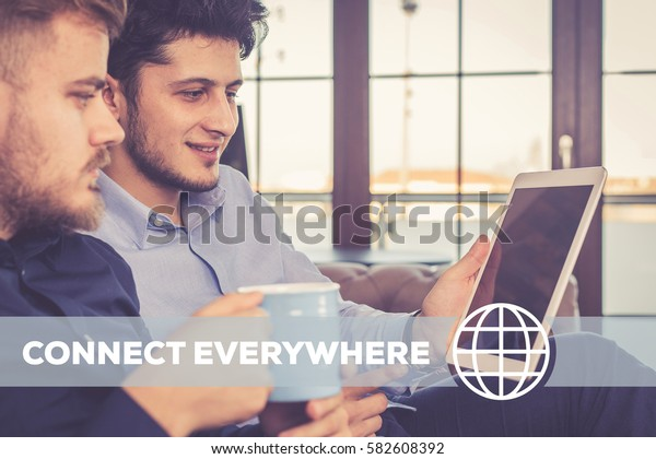 Connect Everywhere Technology Concept