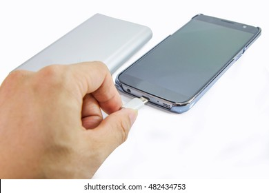 connect the power bank to mobile phone
