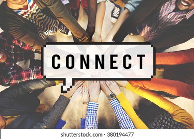 Connect Social Media Networking Contact Interconnection Concept
