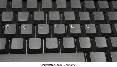 Connect written on keyboard