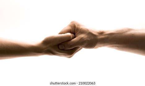 Connected hands.