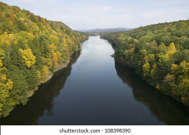 Connecticut River on the Mohawk Trail of western Massachusetts, New England