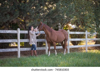 A connection between a woman and her horse.