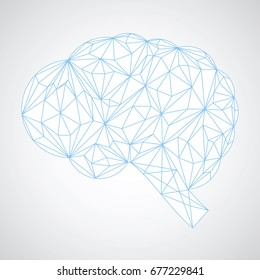 Connection concept of the human brain