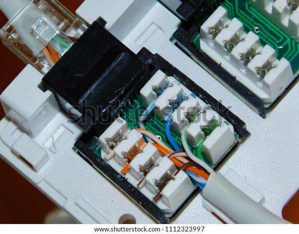Connection Ethernet Socket Stock Photo Edit Now 1112323997