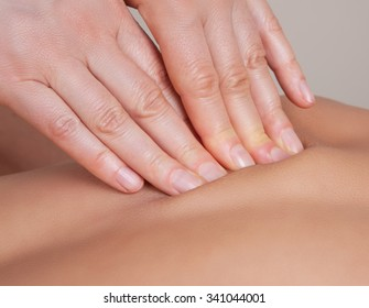 Connective tissue massage on  a muscle