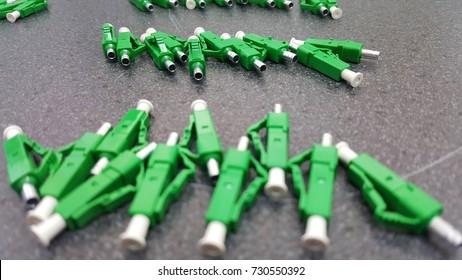 Connector fiber LCA Green