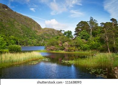 Connemara lake and mountains in Ireland
