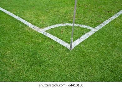 Conner of football field