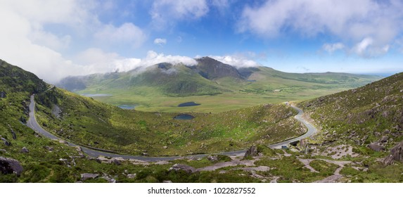 Connor pass with dramatic sky, Dingle Peninsula, County Kerry, Ireland