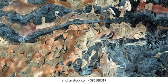 the conquest,allegory, tribute to Picasso, abstract photography of the Spain fields from the air, aerial view, representation of human labor camps, abstract, cubism, abstract naturalism,