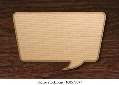 conservation block corrugated paper on wooden background