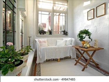 Conservatory in old house