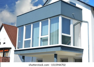 Conservatory or Oriel with upper Balcony at a new built residential Building