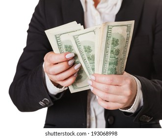 considers money isolated on white background