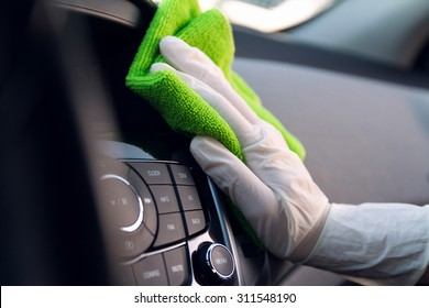 Console car cleaning