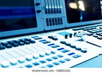 console in modern studio