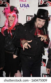 Constance Hall and Cleeve Hall at the Monster Man Costume Ball, Cabo Wabo, Hollywood, CA 10-16-13