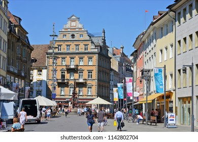 Constance (Konstanz ) , Federal Republic of Germany July 16, 2018: Ancient streets of the city.