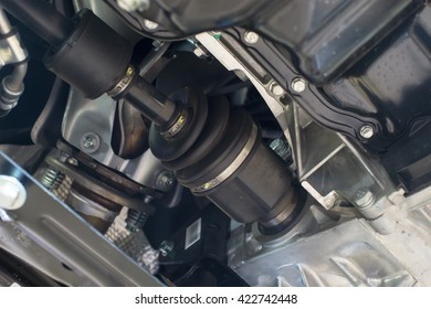 constant velocity joint mounted on the vehicle