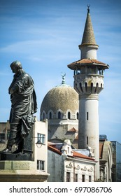 Constanta statue and landmarks in the Romanian Black Sea city