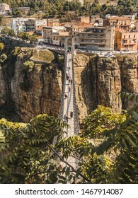 Constantine, Algeria. August 2018. Located in the north east of Algeria, Constantine is best known as the city of suspended bridges. They were built because of it's special terrain.