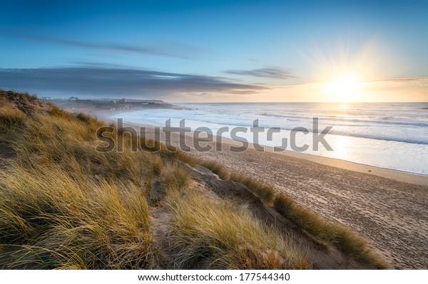 Constantine Bay on the Atlantic coast of Cornwall