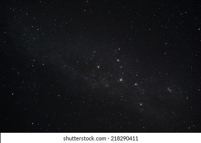 Constellation Cassiopeia and our galaxy the Milky Way