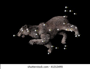 Constellation The Great Bear (Ursa Major)