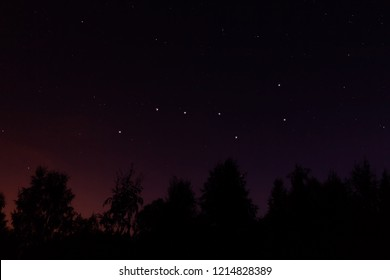 Constellation Ursa Major (big dipper or Great Bear) in the night starry sky